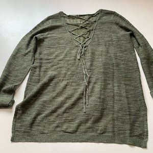 Knox Rose Sweaters - Knox rose olive green knit sweater XL